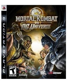 Mortal Kombat Vs Dc Universe Videojuego Ps3