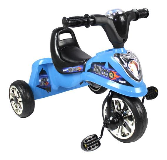 Miniciclo Triciclo Infantil Toca Música Luz Azul Bel Brink