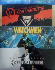 V For Vendetta & Watchmen & Constantine Peliculas Blu-ray
