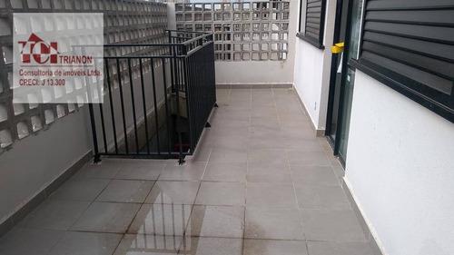 Apartamento Com 2 Dormitórios À Venda, 54 M² Por R$ 295.000,00 - Santa Maria - Santo André/sp - Ap2140