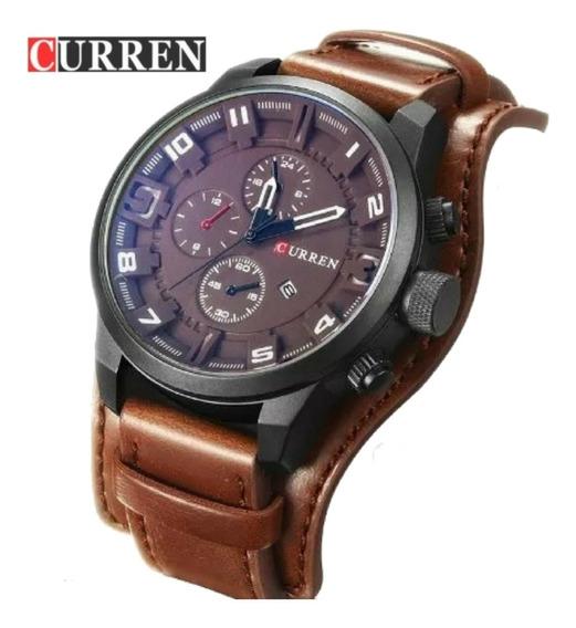 Relógio Masculino Curren 8225 Original Importado Couro