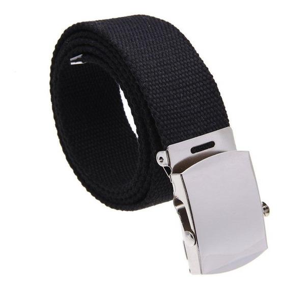 Cinturon De Lona Con Hebilla Metalica Militar +envio Gratis