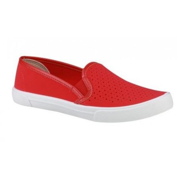 Tenis Moleca 5296.100 - Vermelho - Delabela Calçados