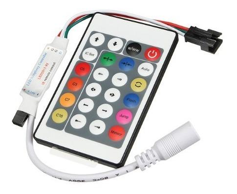 Controle Remoto Ir + Receptor P/ Fita Ws2812 Ws2811 Ws6812