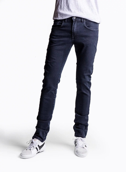 Pantalon Etiqueta Negra N7 Skinny Lav Londres Azul Oscuro