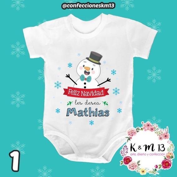 Bodys Para Bebes Personalizados En Algodón Navidad 2019