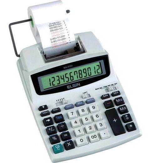 Calculadora Elgin Com Bobina 12 Dig. Ma 5121 - Frete Grátis