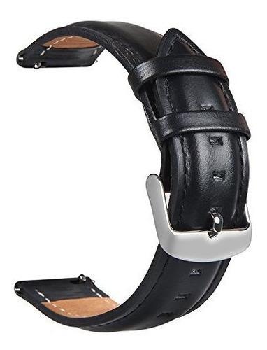 Para Gear S3 Watch Band, Correa De Cuero Torotop 22mm Repues