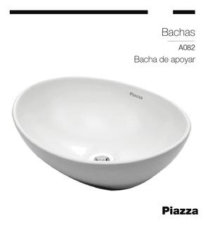 Bacha De Apoyo De Porcelana Y Griferia Emblem Piazza