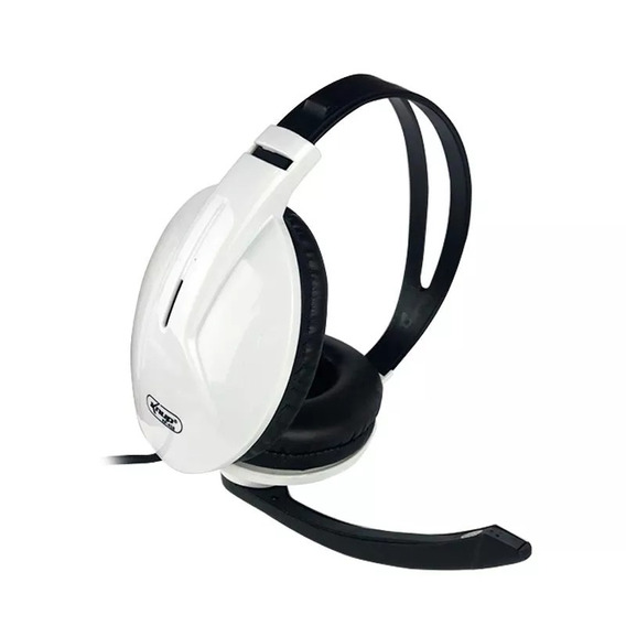 Fone Headset Knup Kp-418 Branco C/ Microfone