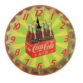 Relógio Parede Coca Cola Coke Retro Vintage 33cm Estampas
