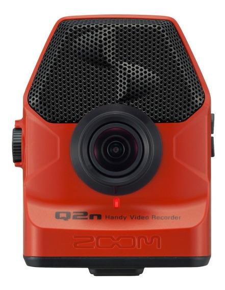 Zoom Q2n Gravador Digital De Áudio E Vídeo - Vermelha