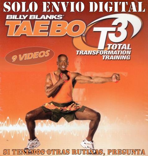 Tae Bo T3 Fitness 9 Videos Rutina Adelgaza Y Tonifik En Casa