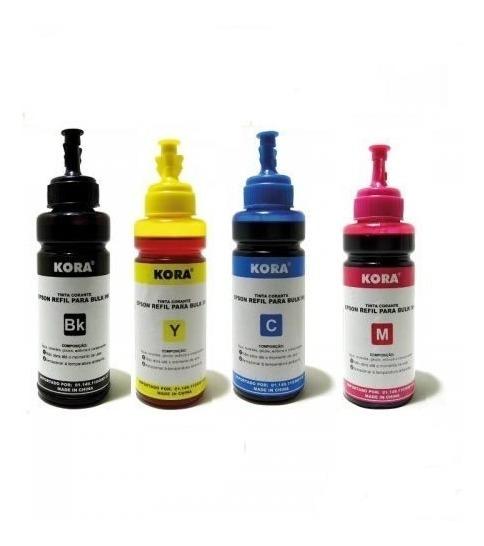Tinta Refil Para Bulk Ink Epson Kora 4 Cores