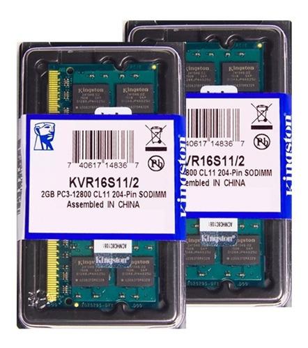 Memória Kingston Ddr3 2gb 1600 Mhz Notebook 16 Chips 1.5v