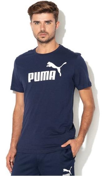 Puma Ess Logo Tee Azul/blanco