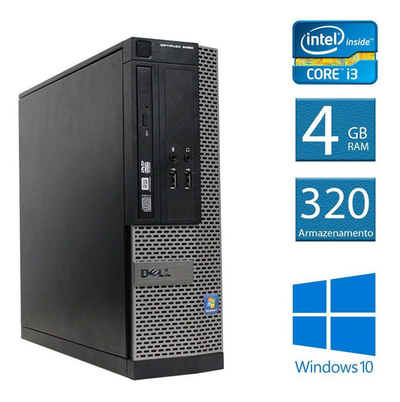 Computador Desktop Dell Optiplex 3020 I3 Slim 4gb 320hd