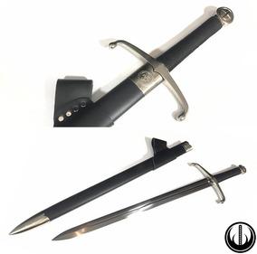 Espada Medieval Templário Funcional Afiada Corte Aço Carbono