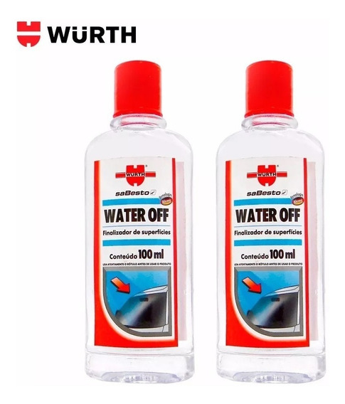 Kit 2 Water Off Wurth Cristalizador Parabrisa Repelente Água
