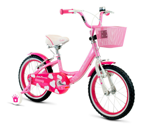 Bicicleta Turbo Infantil Niña R16 Ruedas Laterales Y Frenos