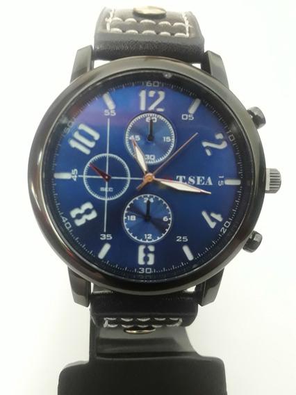 Relógios Masculinos O.t.s.e.a Preto Pulseira De Couro Barrat