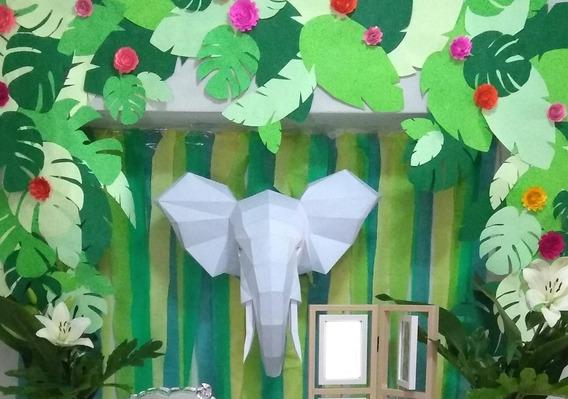 Elefante 3d De Papel