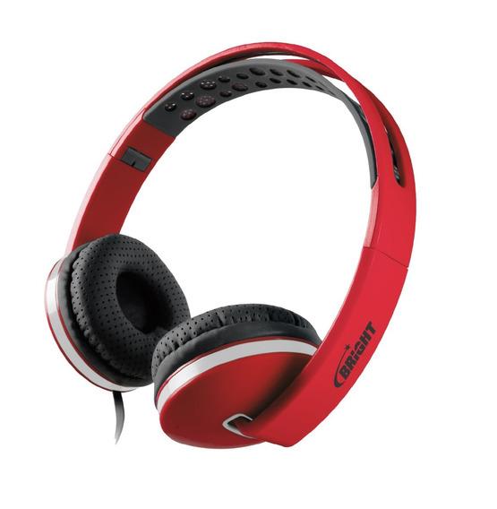 Headphone Bright Colors Vermelho Com Nota Fiscal