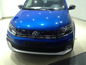 Vw Saveiro Cross 2017 Azul Electrica 1.6 Rl