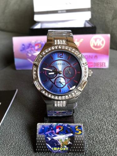 Relógio Guess W0776l1 Prata Original Completo Com Caixa