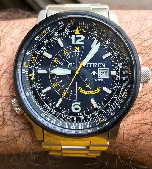 Relógio Citizen Promaster Nighthawk Blue Angels Azul - Usado