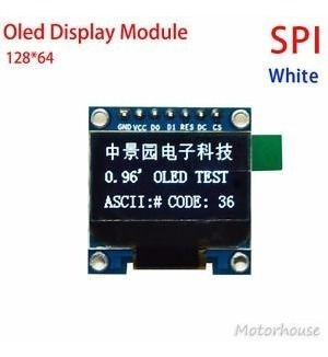 Display Oled 128x64 0.96 Spi Gráfico Arduino Escrita Branco