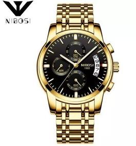 Relógio Nibosi Masculino Original Luxo Todo Funcional 2353