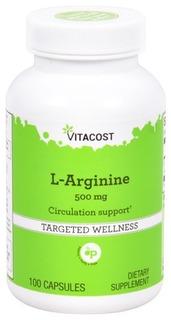 L Arginina Hcl 500mg 200 Capsulas Vitacost Importado Eua