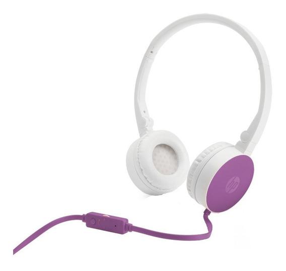 Fone De Ouvido Headset Hp H2800 Dobrável Com Microfonea