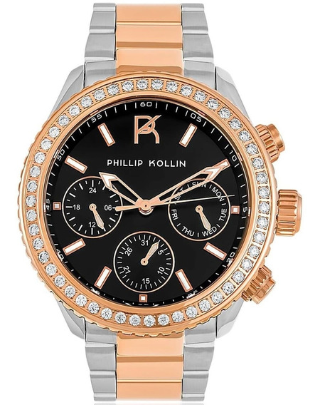 Relógio Feminino Phillip Kollin Zy28145p Barato Original