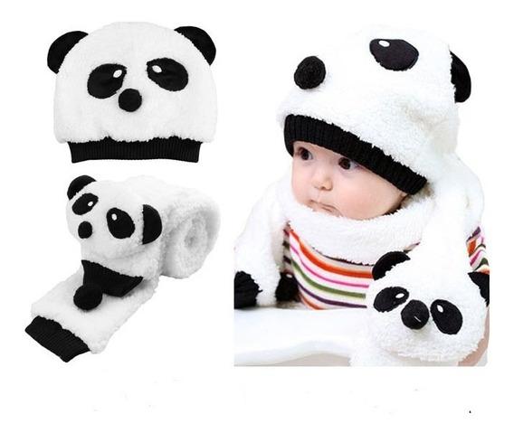 Touca Bebe Urso Panda Promoção, Gorro Quentinho Menina Menino, Boné Infantil, Toucas Bebe, Boina Crianças
