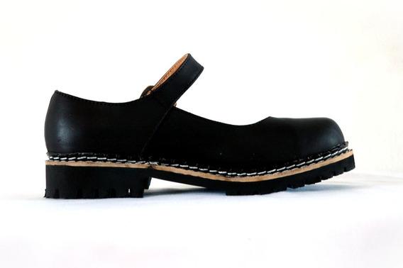 Guillerminas Dirty Boots Febo Ruta Simple Cuero N° 33 Al 36
