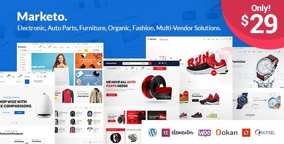 Marketo Wordpress + Ecommerce Theme Top Mundial
