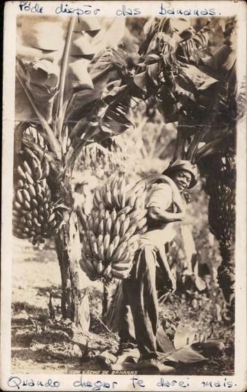 Cartão Postal Antigo Bananeiras Vendedor 1943