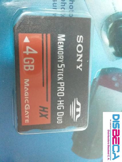 Memoria Pro Duo Sony 4gb Y 8gb Original **10 Vrds**