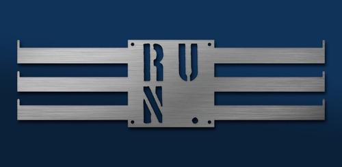 Imagen 1 de 6 de Medallero Run Is Fun Porta Medallas Personalizado Gratis