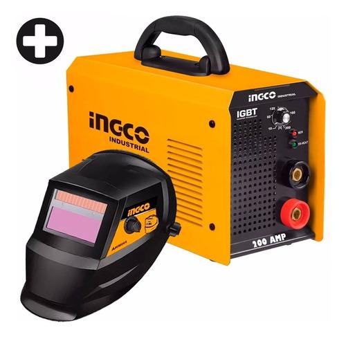 Soldadora Inverter Ingco 200 Amp Industrial Igbt Mma2006 Ff