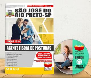 Apostila São José Do Rio Preto Agente Fiscal De Posturas