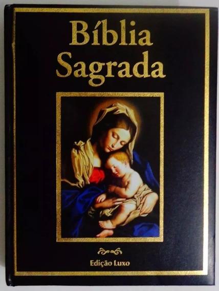 Bíblia Sagrada Católica Nossa Senhora - Edição Luxo Preta
