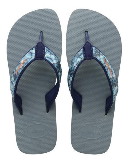 Havaianas Ojotas Surf Material Azul Prateado Hombre
