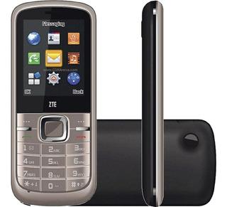 Celular Zte R228 2g 1.3mp Mp3 Fm Dual Dourado Novo