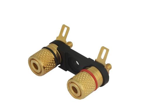 4 Bornes Ouro Alto Falante - Amplificador - Rôsca - Kcres