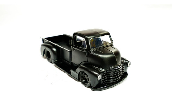 Miniatura Chevy Coe 1952 Pick-up Jada Toys 1:24 Preto Fosco