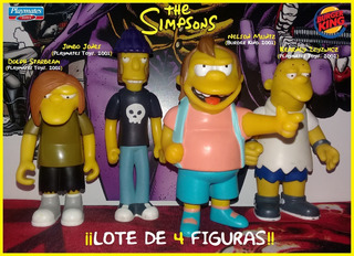 Nelson Y Pandilla: The Simpsons (playmates & Burger King).