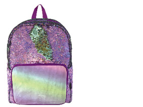 Mochila Tipo Backpack De Lentejuela Reversible